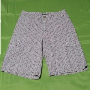 "⬇️⬇$35 Quiksilver Tan LOGO Shorts Boy 12 26"" Waist"